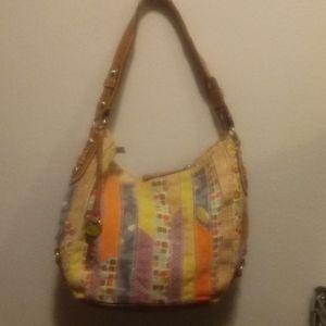 Striped purse